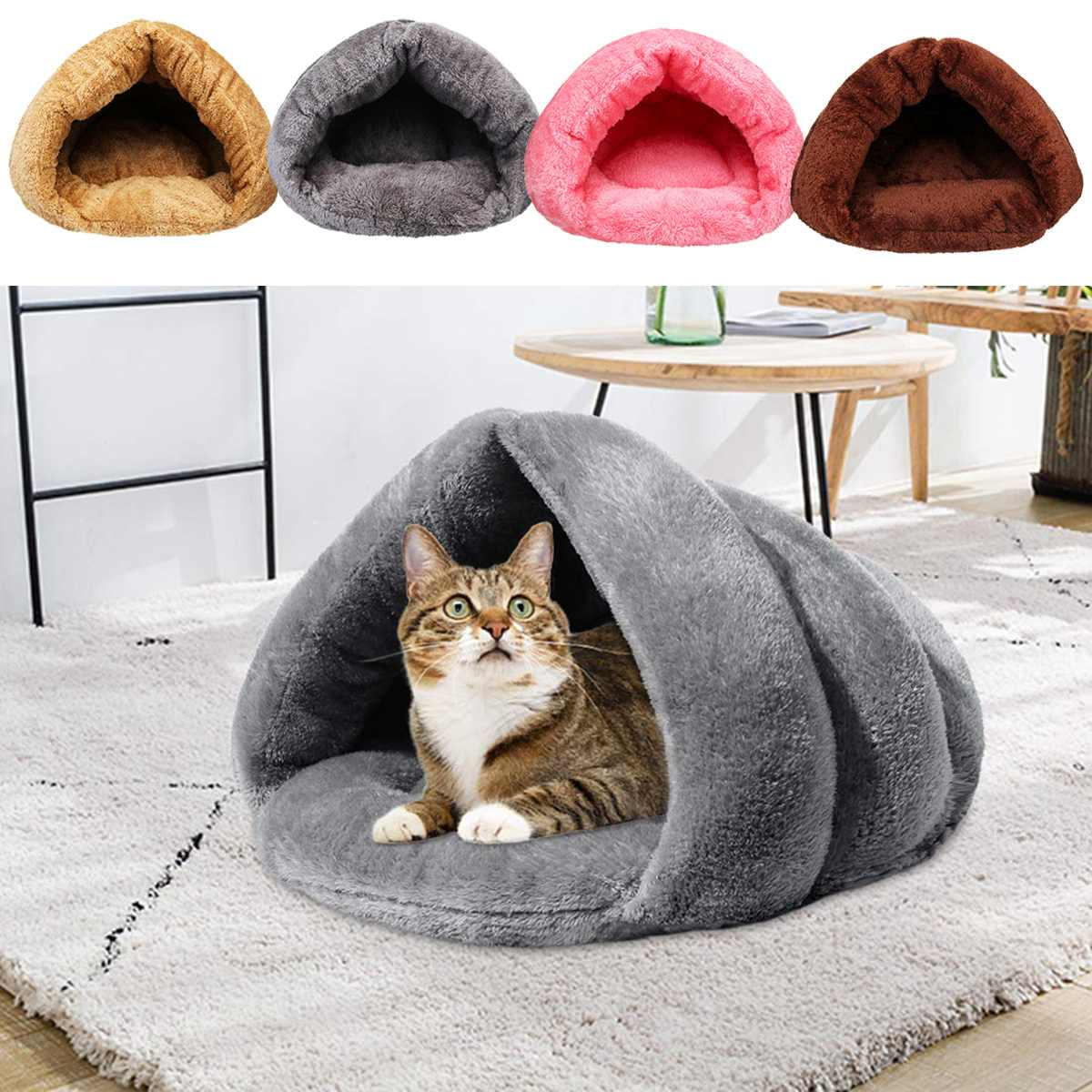 S/L <font><b>Dog</b></font> Cat Pet Beds Cotton Teddy Rabbit Bed House Snow Rena <font><b>Dog</b></font> Basket For Small Medium <font><b>Dog</b></font> Soft Warm Beds House image