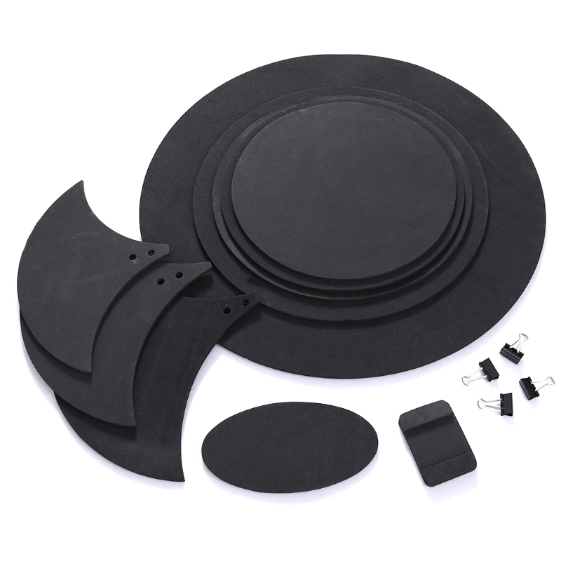Купить с кэшбэком 10pcs Bass Snare Drum Sound Off Mute Silencer Drumming Rubber Practice Pad Set Y51D