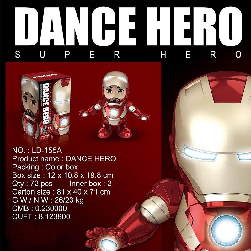 Children's Toy Music Light Dancing Iron Man Robot Electric Hyun Dance Wasp Robot