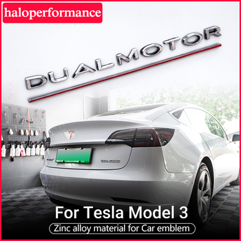Model3 Tesla Car tail letter label For Tesla Model 3 Accessories tail sticker for tesla model y tesla model s tesla model three