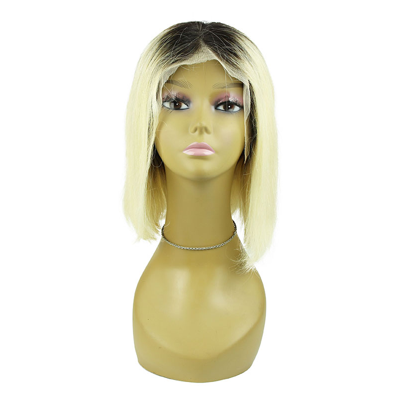 UNice Hair 13x4/6 Short Lace Front Human Hair Wigs Brazilian Remy Hair Bob With Pre Plucked Lace Wig Blond Human Hair