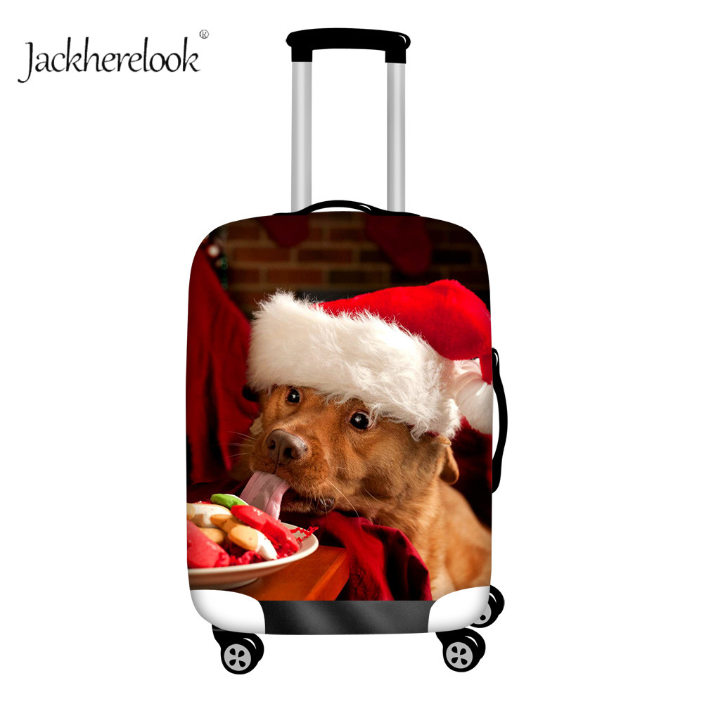 Funny Golden Retriever Schnauzer Printing Luggage Bag Protecter Cute Dog Baggage Case Cover Thicken Dustproof Cover For Suitcase