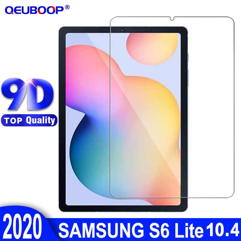 9D Samsung Tab S6 Lite 10.4 2020 temperli cam Film için Galaxy Tab S6 Lite 10.4 P610 P615 patlama dayanıklı ekran koruyucu