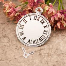 Часы металлические режущие штампы для diy скрапбукинга поделки