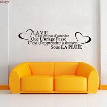 Kililaya – autocollants Muraux Citation De La Vie, accessoires De décoration pour La maison, Citation française, décoration De salle