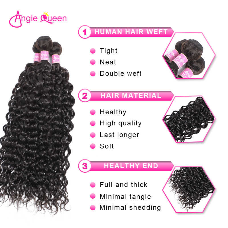 Индийские волнистые волосы Angie queen, 100% человеческие волосы, волнистые волосы remy, пряди remy, волосы уток, натуральный цвет, 8'-26' L