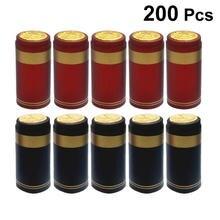 Термоусадочные капсулы из ПВХ 200 шт термоусадочные колпачки