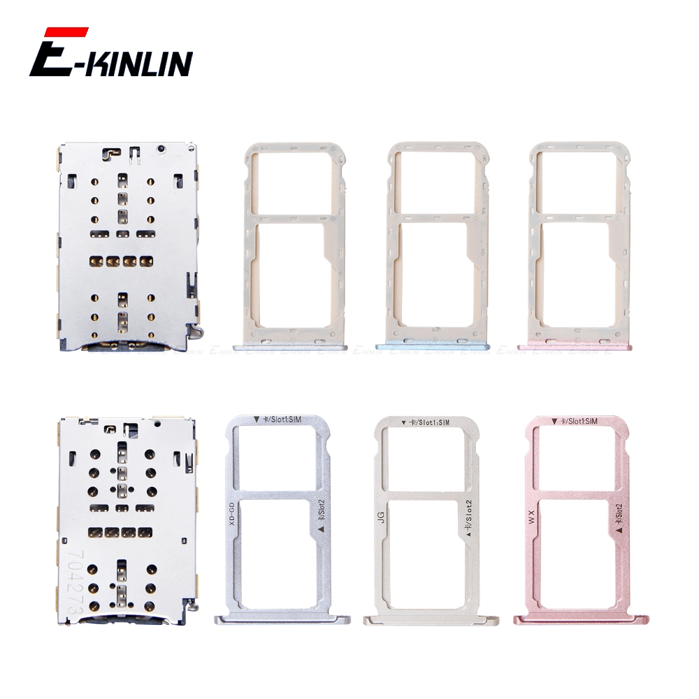 Sim Card / Micro SD Card Tray Socket Holder Slot Container Connector Adapter Reader Replacement Parts For HuaWei Honor 6A 6X