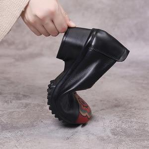 Image 5 - GKTINOO ฤดูใบไม้ผลิฤดูใบไม้ร่วงของแท้หนังส้นสูงสุภาพสตรีรองเท้าส้นสูงรองเท้า 2020 กลางส้น 4 ซม.SLIP On Elegant รองเท้าผู้หญิง