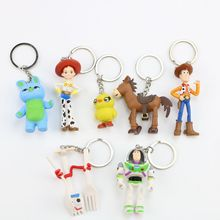 7pcs/set Toy Story Keychain And Figure Action Woody Buzz lightyear Jessie Ken Rex Mini Toys Christmas gifts