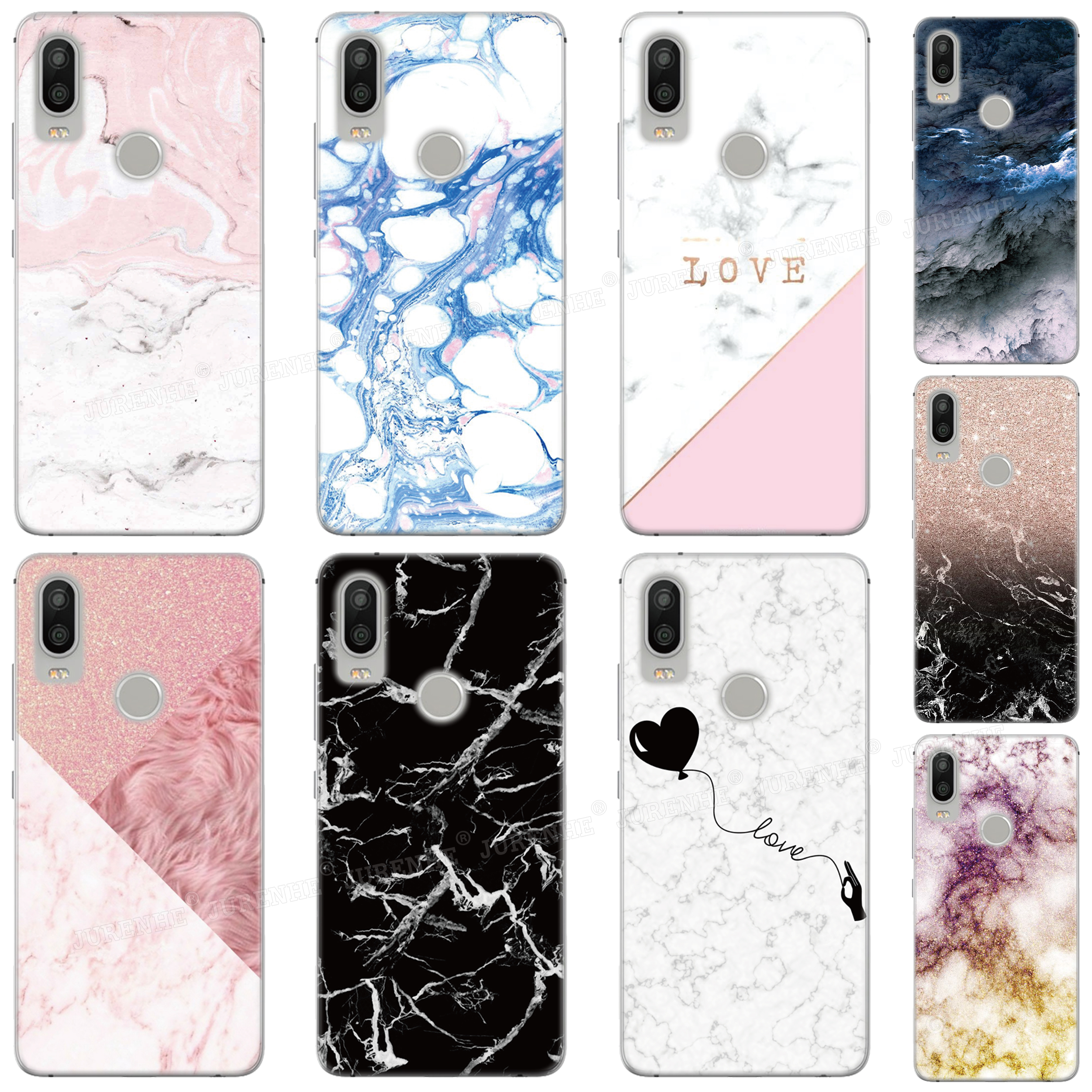 Rubber Soft TPU Funda Colorful Marble Phone <font><b>Case</b></font> For <font><b>Ulefone</b></font> Note 7 / Note 7P Power 3S / Power 6 / S10 <font><b>S1</b></font> Pro S7 Silicone Cover image