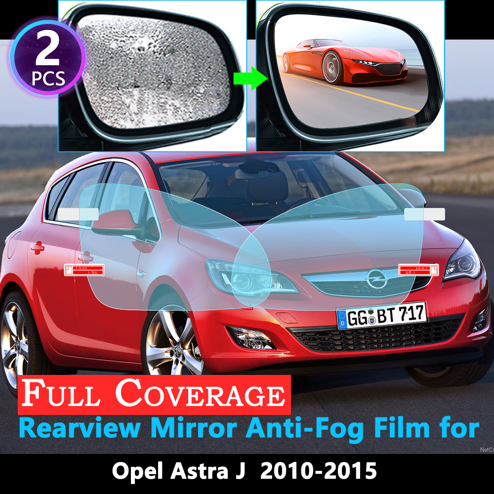 Full Cover Protective Anti-Fog Film For Opel Astra J Vauxhall Holden 2010 2011 2012 2013 2014 2015 Car Rearview Mirror Rainproof