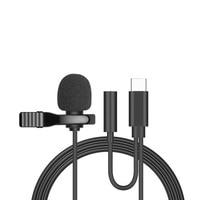 Mini Draagbare Type C Lavalier Revers Microfoon Voor Samsung Huawei Xiaomi Lavalier Clip-On Opname Microfono Type-C microfone