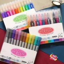 3 סט\חבילה 36 צבע אקריליק מתכתי מרקר עט גליטר צבע ציור לנייל מתכת זכוכית קרמיקה קליגרפיה אותיות אמנות F117