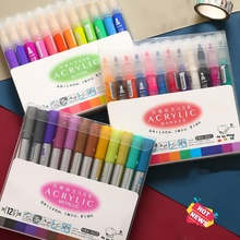 3 Set/Lot 36 Color Acrylic Metallic Marker Pen Glitter Paint Drawing for Nail Metal Glass Ceramic Calligraphy Lettering Art F117