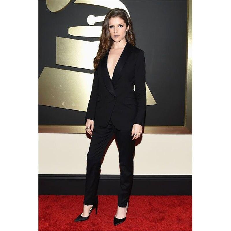 Women Pant Suits Design Ladies Business Trouser Suits Female Formal Work Wear 2 Piece Black Suit Groom Tuxedos Custom Made