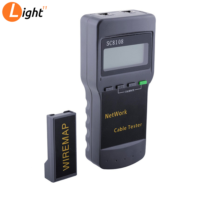 Free Shipping SC8108 Portable Multifunction LCD Wireless Network Tester Meter&LAN Phone Cable Tester & Meter