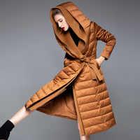 2019 Winter Lange Modell frauen Jacke Mantel Warm Mode Frauen Parkas Unten Frauen Mantel Marke Neue Design Verdicken Mit Kapuze lose Tuch