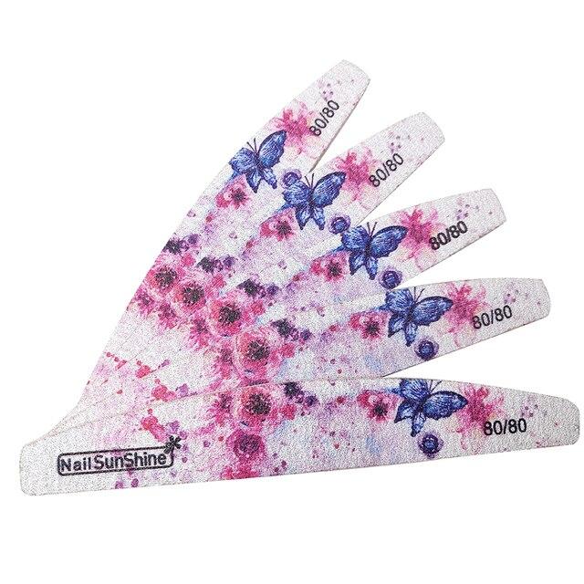 Фото 10 шт/компл пилка для ногтей 80/80 цветов блок полировки инструменты цена