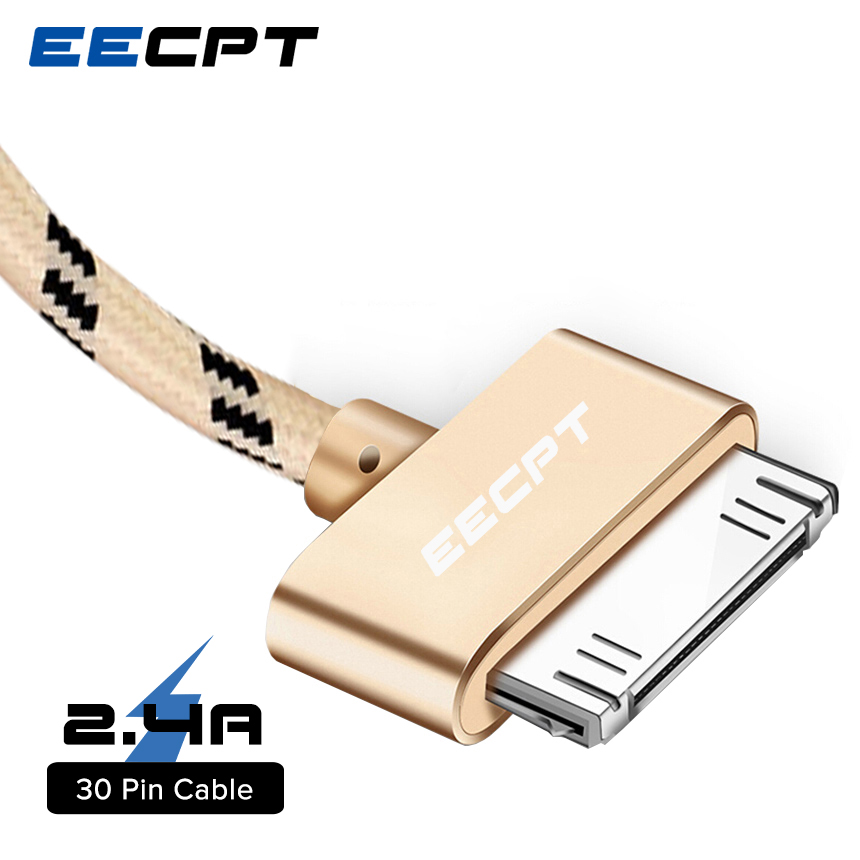 EECPT USB Cable for iPhone 4S 4 s 3GS Charging Data Sync Cable for iPad 1 2 3 iPod Nano iTouch 30 Pin Charger Adapter Data Cord(China)