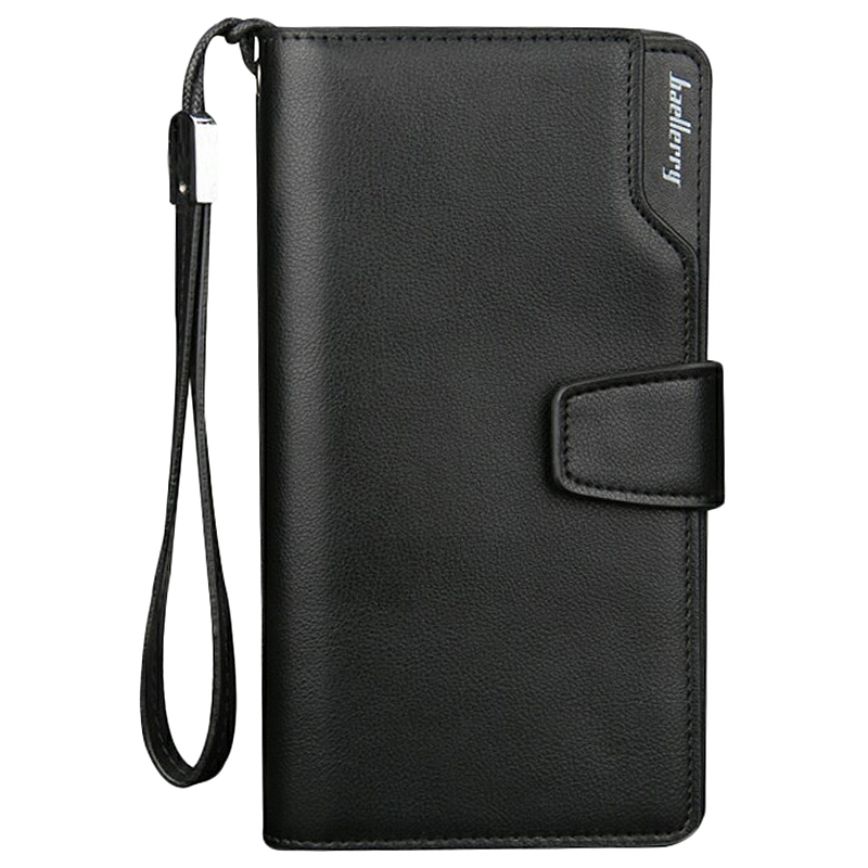 Baellerry Men Wallets Long Men Purse Wallet Male PU Zipper Multi-Function Wallet
