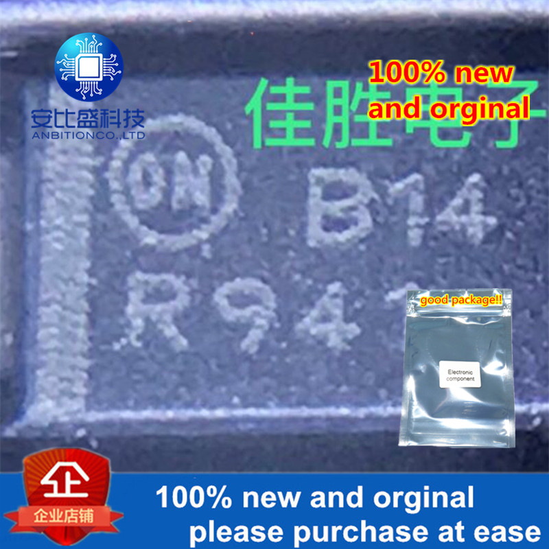 50pcs 100% New And Orginal MBRA140T3G DO214AC Silk-screen B14 In Stock