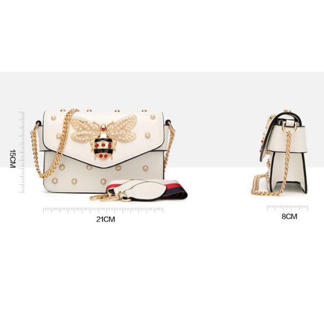 Bee Pearl Crossbody Bags For Women 2021 Chains Bee Luxury Handbags Designer Famous Brand Shoulder Bag Hand Sac A Main Female 4