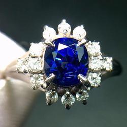 Ювелирные изделия из настоящего платинового золота Pt900 100% натуральный синий сапфир карат драгоценные камни сапфир бриллианты