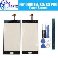 Oukitel pantalla táctil de cristal K3, 100% de cristal Original digitalizador, reemplazo del Panel táctil para OUKITEL K3 PRO