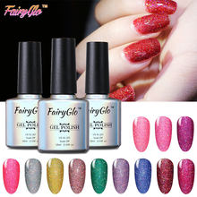 FairyGlo 10ml Neon Gel Polish Lack Semi Permanent Glitter UV Gel Nagellack Farbe Gellak Hybrid Lack Nagel Kunst maniküre(China)
