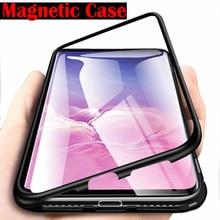 Caixa De Vidro de metal Magnético Para Samsung Galaxy A50 A7 A70 A40 A30 A20 A10 A60 A2 J2 Core A20E J4 J6 Plus A7 A9 2019 Ímã Cobertura