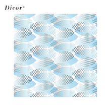 DICOR Modern Creative Stained Glass Sticker Opaque Vinyl Privacy Window Decorative Film Blue Sea Series BLT2180