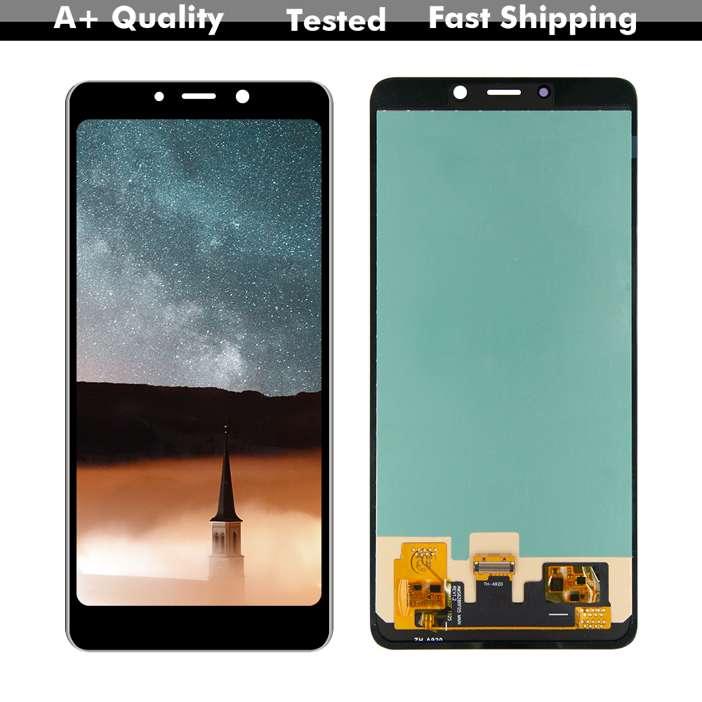 Amoled For Samsung Galaxy A8 2018 A920 SM-A920F/DS Display Screen Digitizer Touch Panel Glass Sensor Assembly Replacement Part