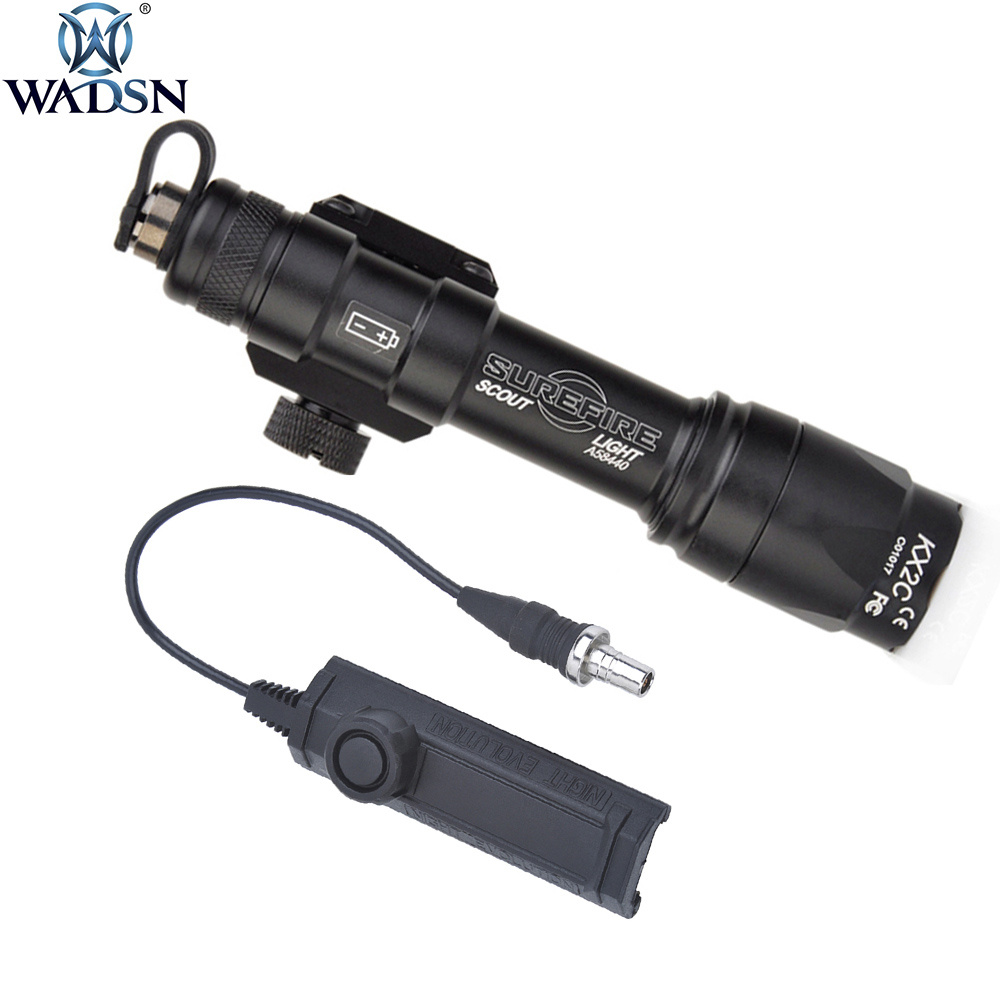 WADSN Airsoft Surefir M600 M600C Scout Light 340Lumens Tactical Weapon Torch Flashlight With Softair Dual Function Tape Swtich