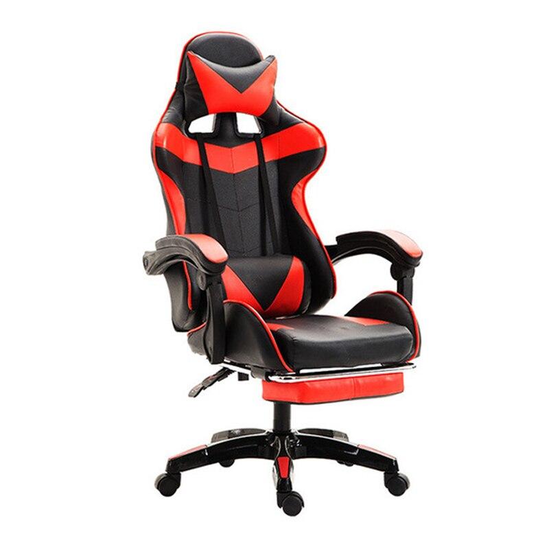 Cadeira de Assento de corrida E Jogos Na Internet Escritório Assento da Cadeira Reclinável com Apoio Para Os Pés Rússia Deitado Casa Nylon Preto Cadeira de Escritório