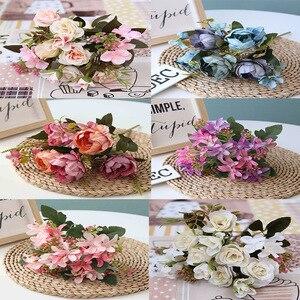 1 bunch of multicolor silk peony bouquet home decoration accessories wedding party scrapbook fake plant diy pompon artificial ro