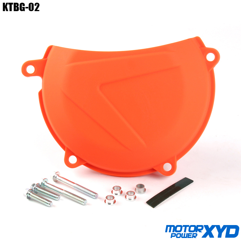 Orange Plastic Engine Clutch Cover Protector Protection Guard For <font><b>KTM</b></font> EXC XCW 450/500 2012-2016 <font><b>SXF</b></font> XCF 450 2013 2014 <font><b>2015</b></font> image