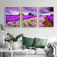 Nordic Lavender Sea Landscape Posters and Prints Canvas Painting Flower Scandinavian Wall Art Picture for Living Room Home Decor nordic lavender sea landscape posters and prints canvas painting flower scandinavian wall art picture for living room home decor