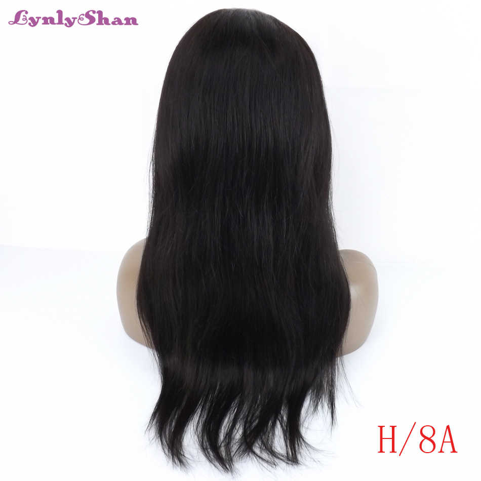 Lynlyshan Lace Front Wigs Human Hair Wigs Peruvian Remy Hair 13*4 Lace Front Wigs 150% Density 10-32 Inches Natural Color