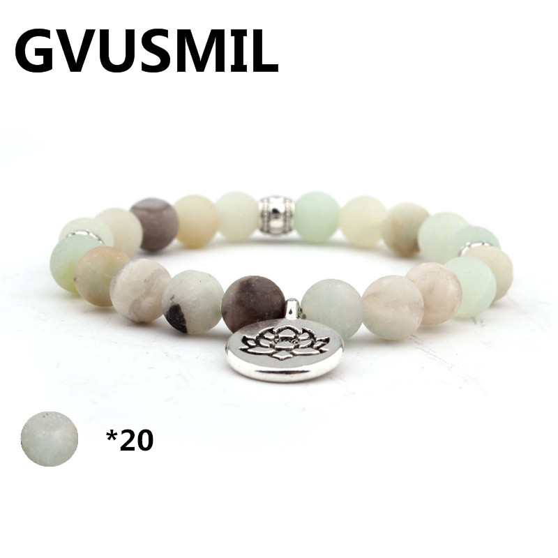 GVUSMIL New Design Faceted Amazonite Women`s Bracelet Trendy Balance Vintage Jewelry
