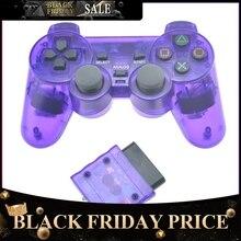 Консоль джойстик Вибрационный Шок Джойстик прозрачный беспроводной геймпад для sony PS2 контроллер для Playstation 2 R25
