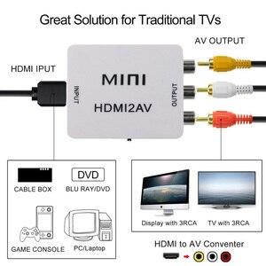 Image 5 - Adaptador compuesto Mini HDMI a RCA AV de 1080P, convertidor de Cable de Audio y vídeo, convertidor de adaptador AV CVBS para TV HD con Cable USB