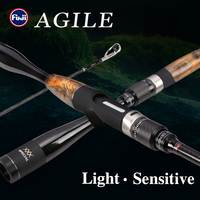 TSURINOYA Fishing Rod AGILE 1.96m 2.01m L ML Ultra-light Weight FUJI accessories Carbon Handle Spinning Casting Rod