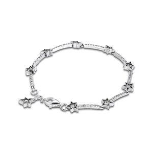 Image 3 - Noel göksel yıldız bilezikler takı yapımı Sterling gümüş takı kadın DIY moda bilezikler