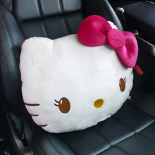 Pillow Car Cushion Plush Cartoon Cute Three-Piece-Set Kitty-Shape Winter