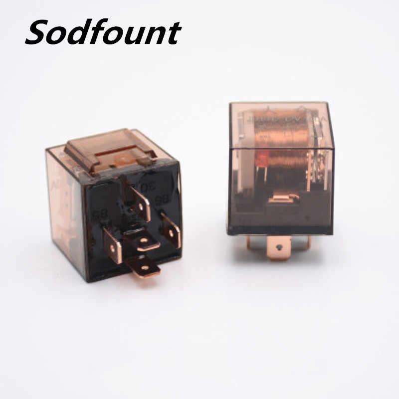 1pcs 12 V/24 V 100A 4pin 5pin 자동차 릴레이 표시 등 높은 전류 릴레이 방수 표시 등 릴레이