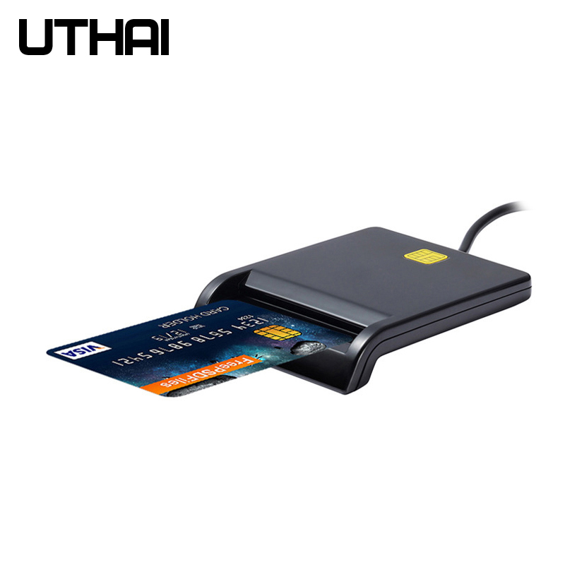 UTHAI X01 USB Smart Card Reader For Bank Card IC/ID EMV card Reader  High Quality for Windows 7 8 10 Linux OS USB-CCID ISO 7816 Бороскопы