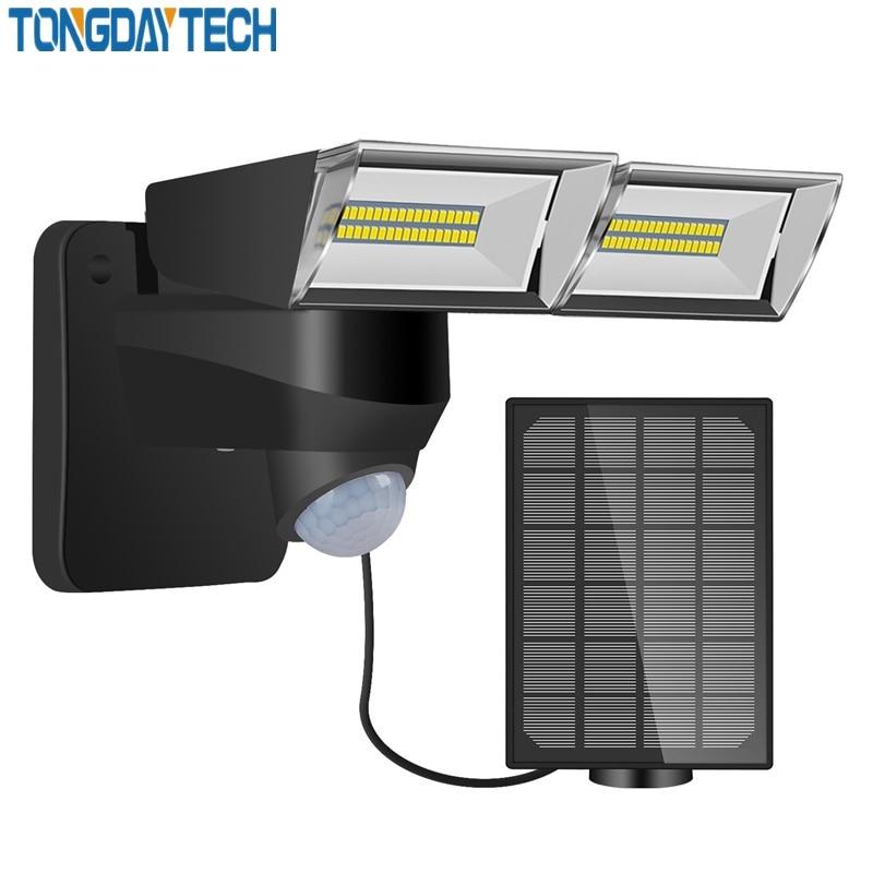 Tongdaytech 2020Newst LED Solar Light Outdoor PIR Motion Sensor Light Solar Power Wall Lamp IP65 Waterproof Yard Garden Lamp LED