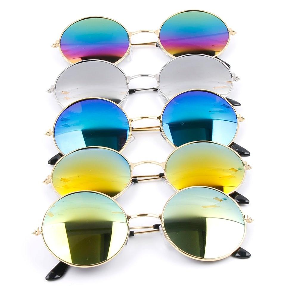 1PC rétro Vintage rond miroir lunettes de soleil Sports de plein air lunettes en métal cadre classique lunettes de soleil lunettes conduite UV400