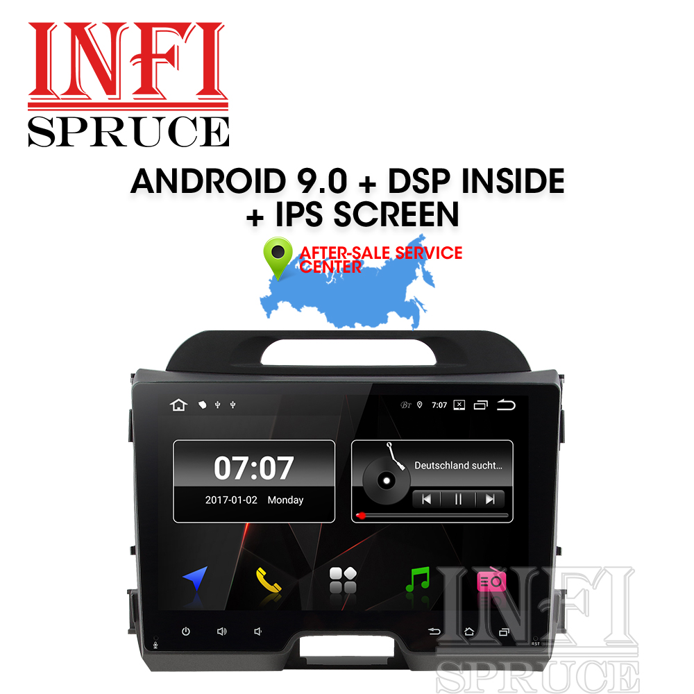 Android 9.0 car dvd for KIA sportage 2007-2010 2011 2012 2013 2014 2015 with car radio stereo multimedia player 2 din navigation